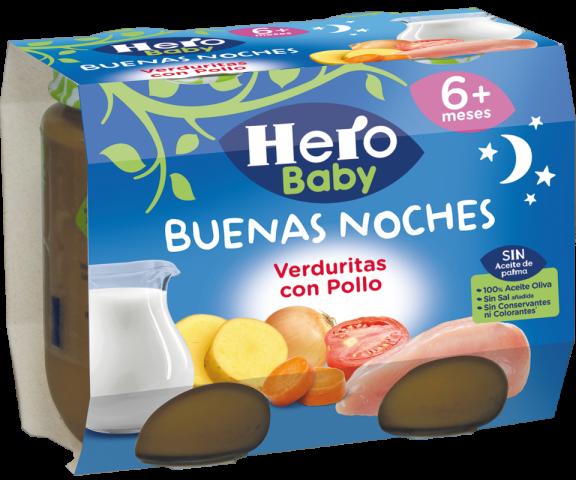 HBN B NOCHES VERDURITAS POLLO 2x190 6u